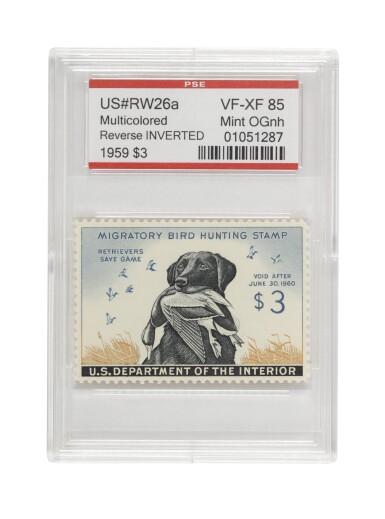 Hunting Permit 1959 $3.00 Multicolored Back Inscription Inverted (RW26a)