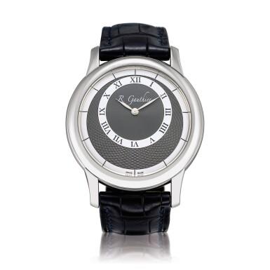 View 1. Thumbnail of Lot 2222. Romain Gauthier   Prestige HM, A limited edition platinum wristwatch, Circa 2007   Prestige HM  限量版鉑金腕錶,約2007年製.