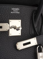 Black leather and palladium hardware, Birkin 35, Hermès, 2003