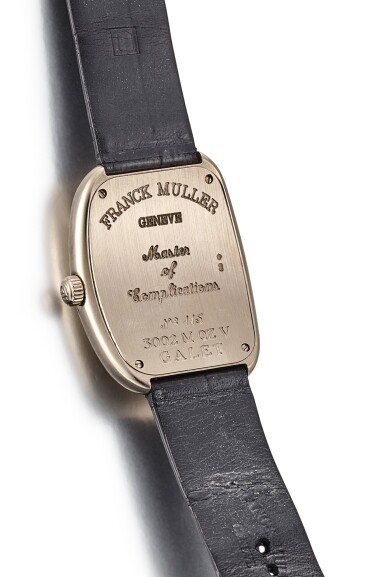 View 3. Thumbnail of Lot 8268. FRANK MULLER | MASTERS OF COMPLICATIONS, REFERENCE 3002 M QZ V, A WHITE GOLD WRISTWATCH, CIRCA 2010.