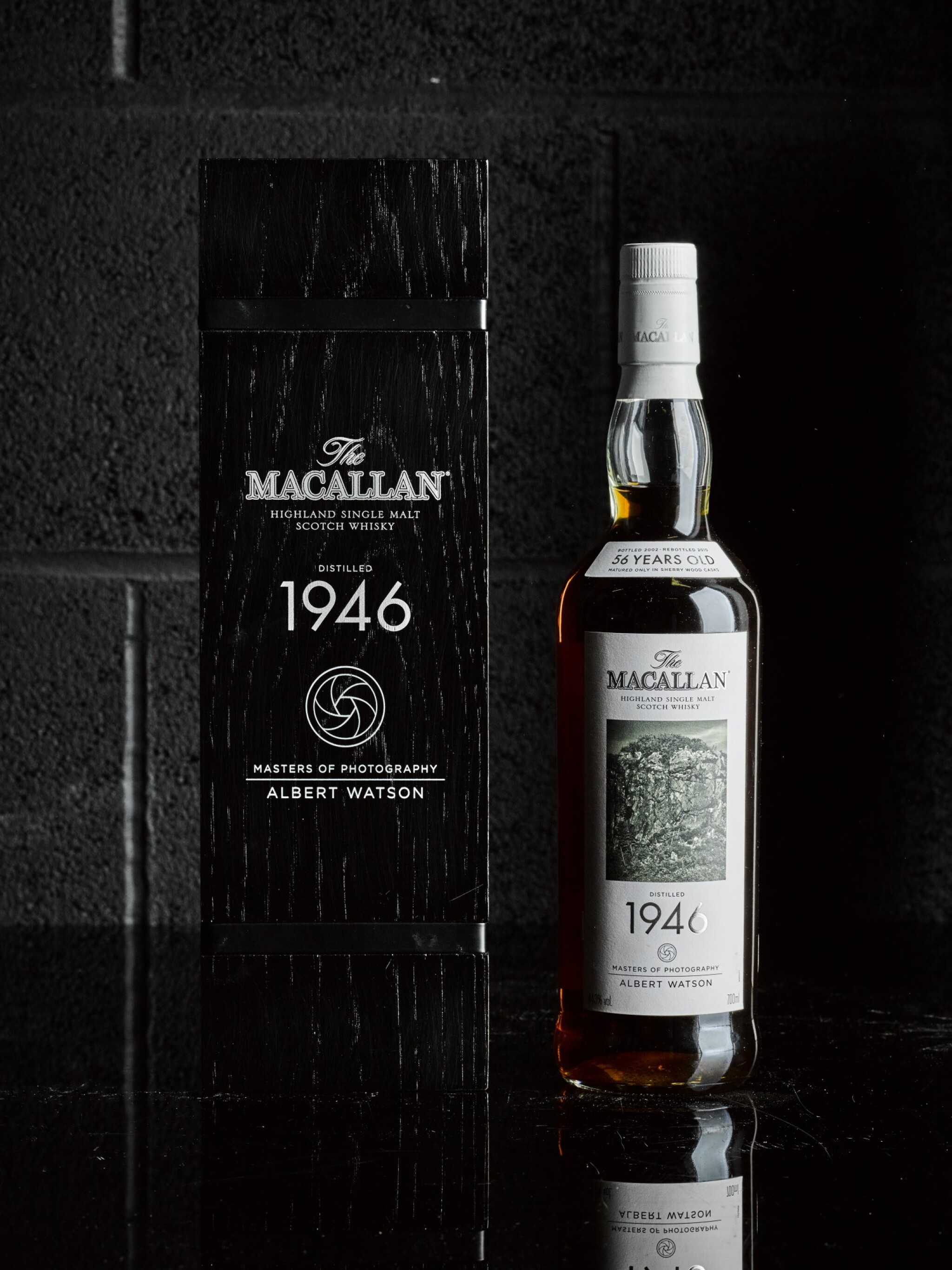 View 1 of Lot 6. The Macallan Fine & Rare 56 Year Old Albert Watson 44.3 abv 1946.