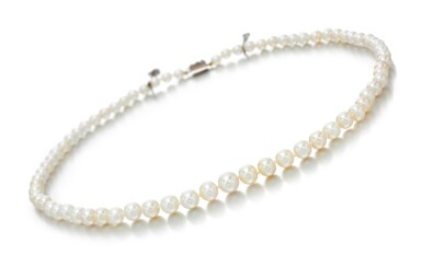 NATURAL PEARL AND DIAMOND NECKLACE