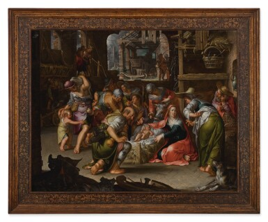 View 2. Thumbnail of Lot 144. Adoration of the Shepherds         .