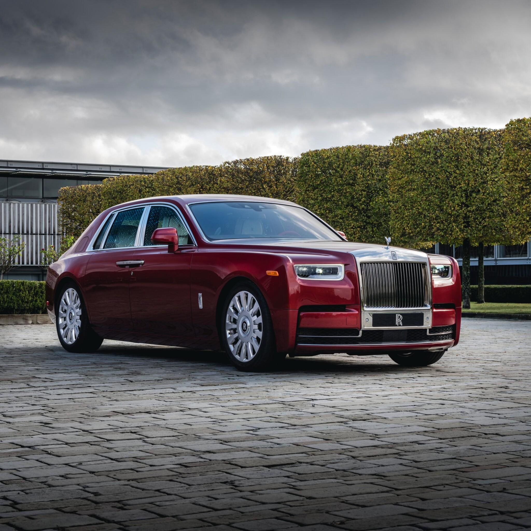 Red Rolls-Royce Phantom Commission with Mickalene Thomas