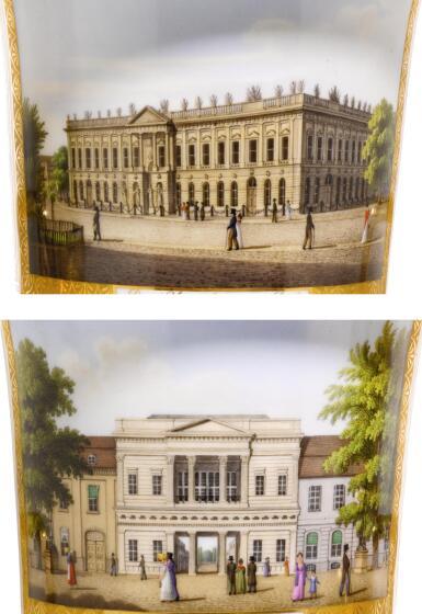 View 3. Thumbnail of Lot 159. A PAIR OF BERLIN (K.P.M.) PORCELAIN VASES, CIRCA 1830.