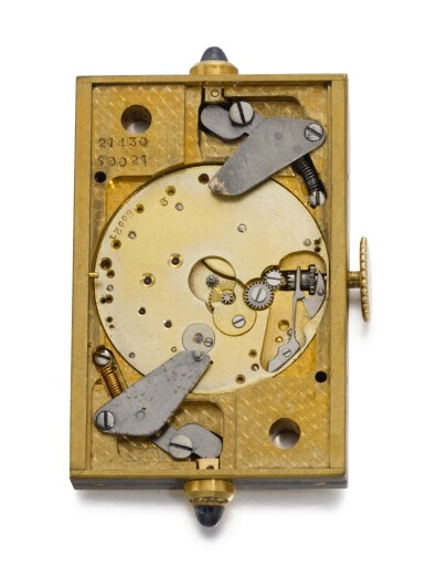 View 5. Thumbnail of Lot 77. CARTIER, FRANCE   [卡地亞,法國]  | A GOLD AND ENAMEL PURSE WATCH WITH SPRUNG SHUTTERS  CIRCA 1930, ÉCLIPSE   [「ÉCLIPSE」 黃金畫琺瑯方形懷錶備彈簧開關,年份約1930].