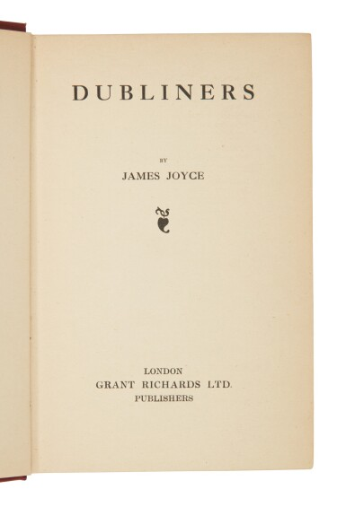 View 1. Thumbnail of Lot 118. Joyce, James   First published edition of Dubliners in the very rare dust-jacket.
