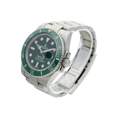 View 2. Thumbnail of Lot 18. ROLEX | REFERENCE 116610LV SUBMARINER 'HULK'  A STAINLESS STEEL AUTOMATIC WRISTWATCH WITH DATE AND BRACELET, CIRCA 2018.