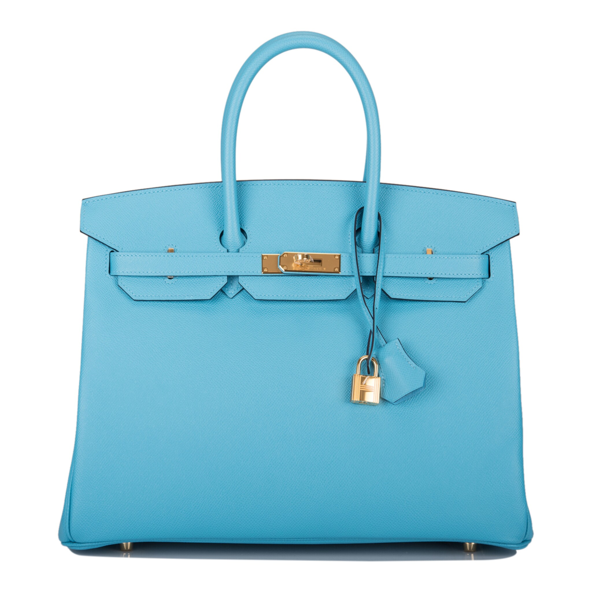 View full screen - View 1 of Lot 15. Hermès Bleu du Nord Birkin 35cm of Epsom Leather with Gold Hardware.