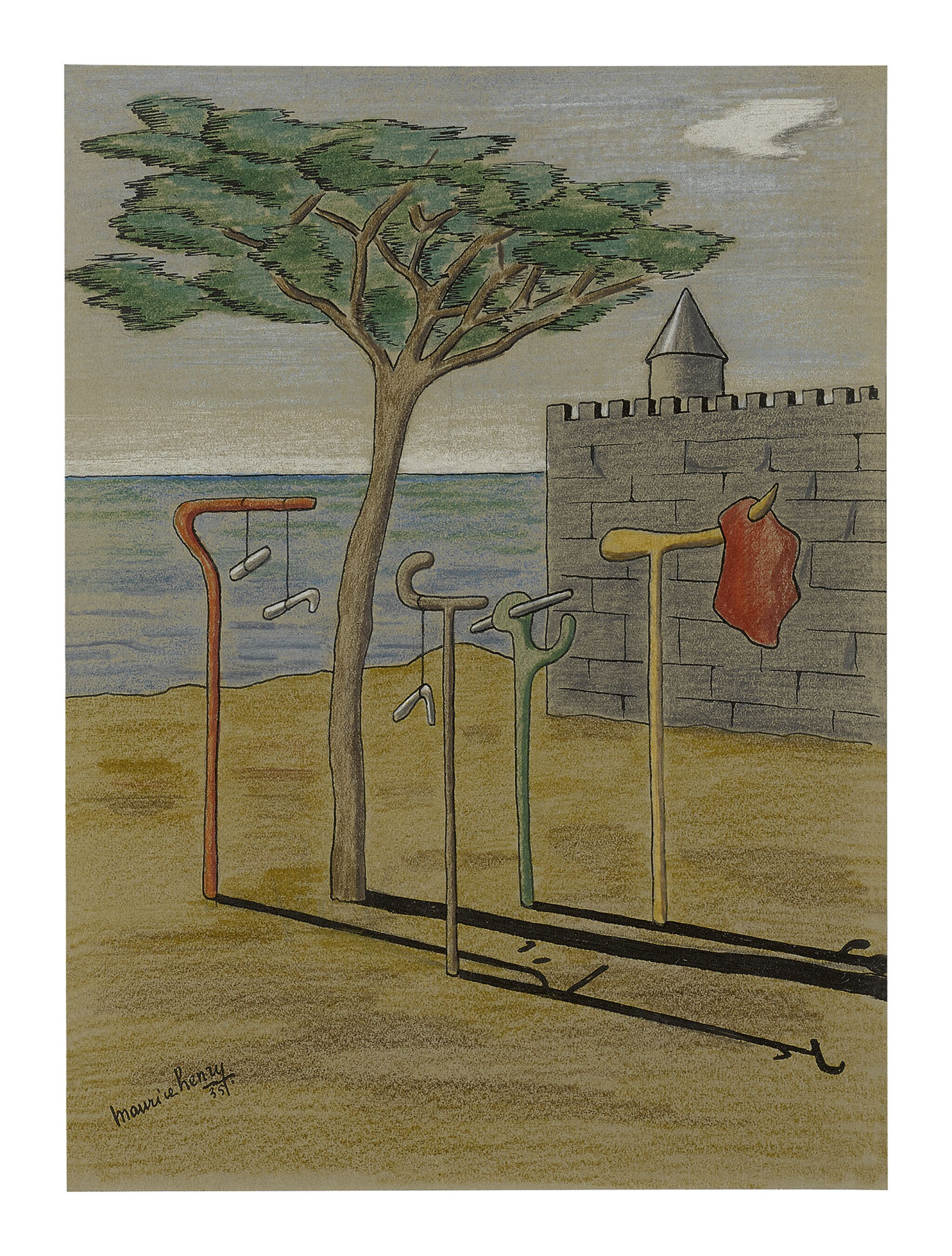 View full screen - View 1 of Lot 2. MAURICE HENRY | PLAGE SURREALISTE .