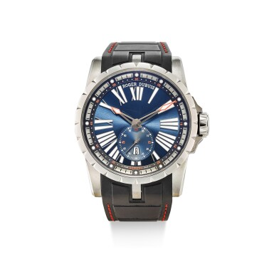ROGER DUBUIS |  EXCALIBUR 45, REFERENCE DBEX0602, A TITANIUM WRISTWATCH WITH DATE, CIRCA 2018
