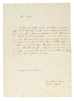 G. Leopardi. Unpublished letter, dictated to his sister Paolina, and six by his brother Pierfrancesco, 1830-1847