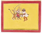 A GROUP OF NINE ILLUSTRATIONS FROM A DEVI SERIES, INDIA, MANDI, CIRCA 1770