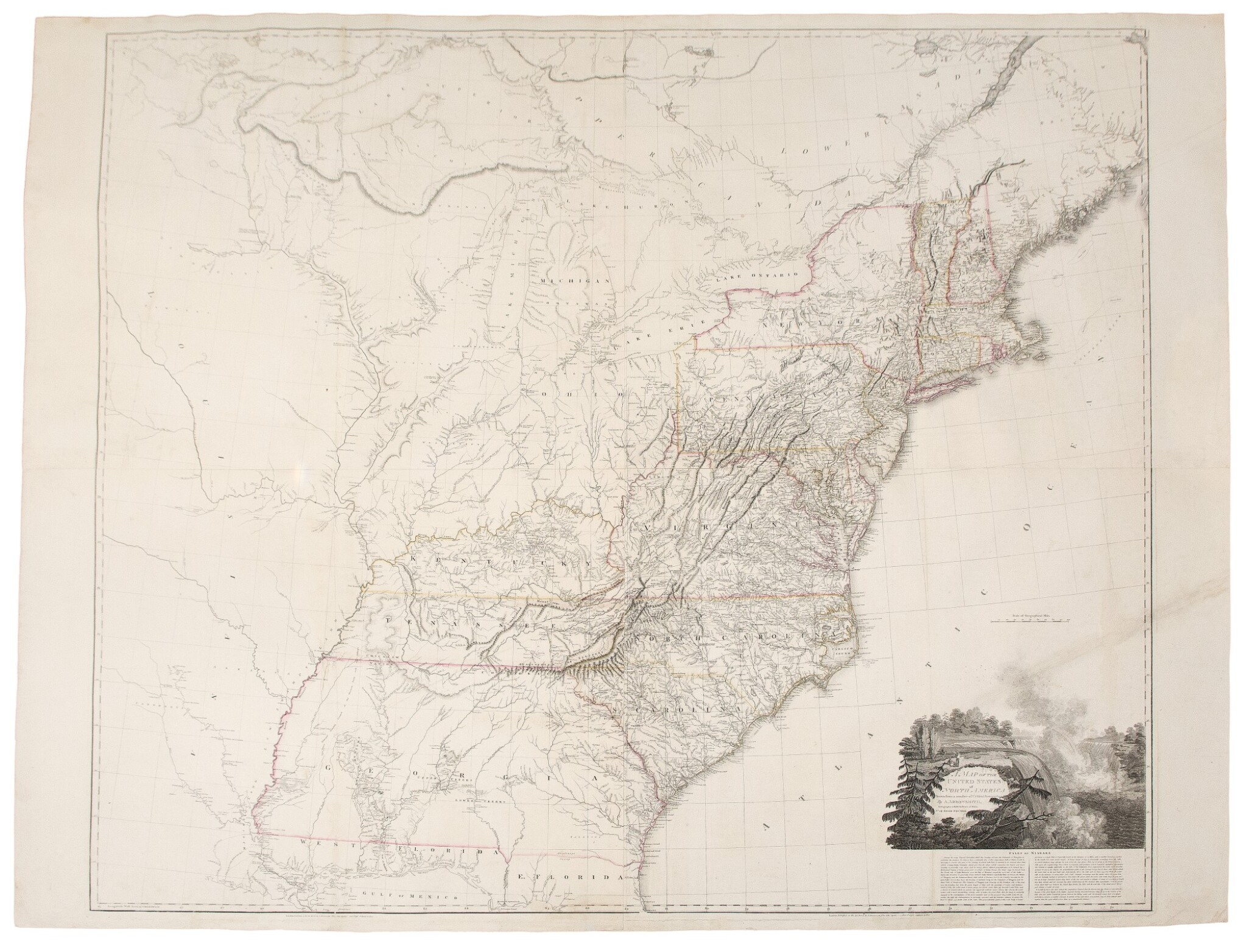 View full screen - View 1 of Lot 154. Arrowsmith, Aaron | The famed wall map of the United States.
