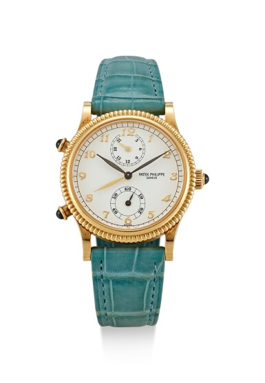 PATEK PHILIPPE | TRAVEL TIME, REFERENCE 4864, A YELLOW GOLD DUAL TIME ZONE WRISTWATCH WITH 24 HOURS INDICATION, MADE IN 1998