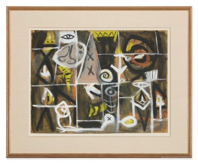 View 2. Thumbnail of Lot 217. ADOLPH GOTTLIEB   UNTITLED.