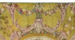 AN AUBUSSON CARPET IN THE SAVONNERIE MANNER, LAST QUARTER OF THE 18TH CENTURY    TAPIS DE LA MANUFACTURE D'AUBUSSON AU POINT DE LA SAVONNERIE, DERNIER QUART DU XVIIIE SIÈCLE