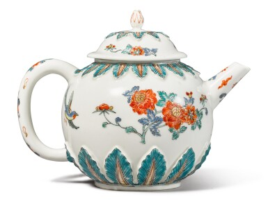 View 2. Thumbnail of Lot 306. A MEISSEN DUTCH-DECORATED TEAPOT AND COVER, THE PORCELAIN CIRCA 1715, THE DECORATION CIRCA 1730-40.