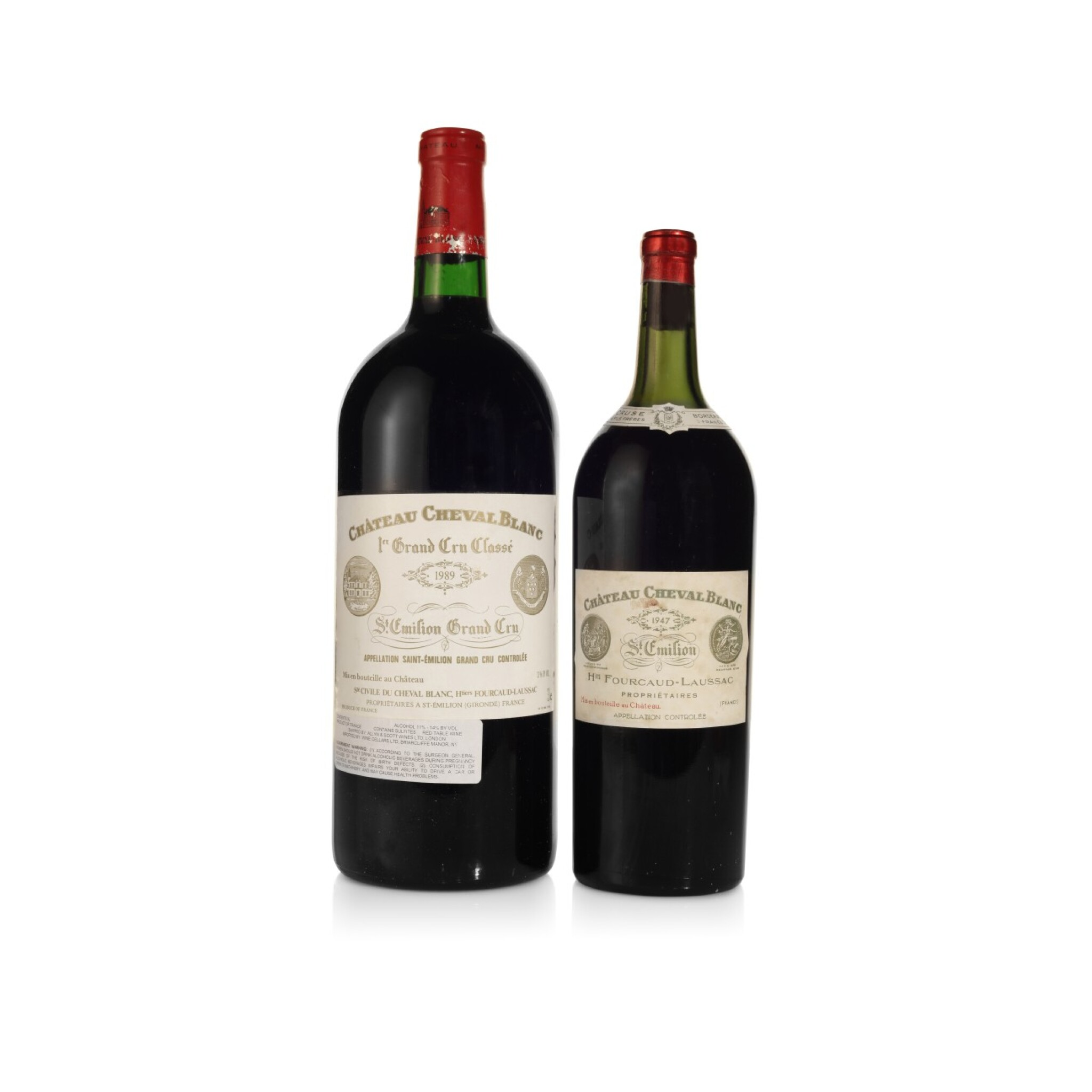 View full screen - View 1 of Lot 86. Château Cheval Blanc 1947 (2 MAG).