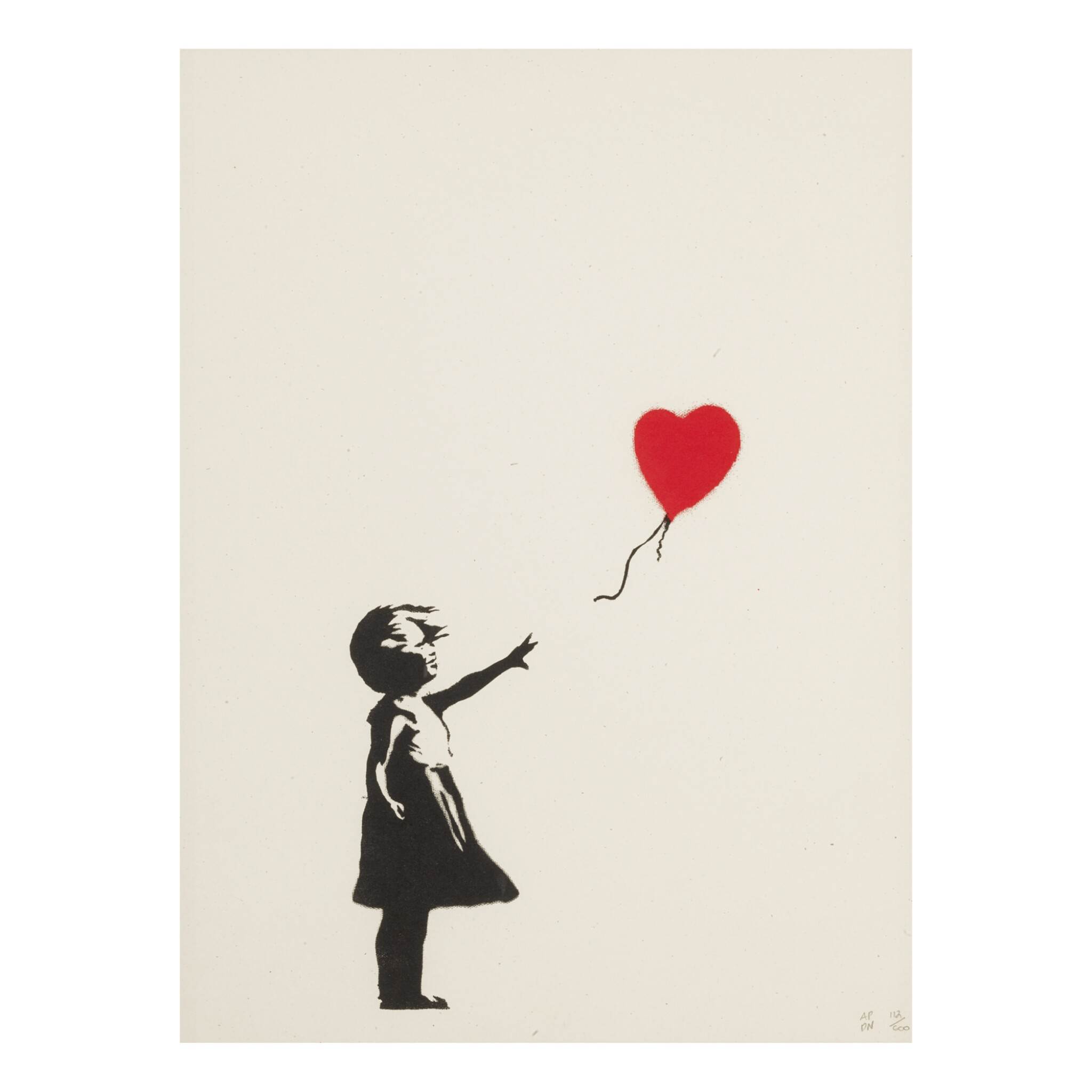 View full screen - View 1 of Lot 181. BANKSY | GIRL WITH BALLOON.