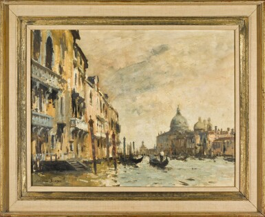 View 2. Thumbnail of Lot 78.  A Grey Day on the Grand Canal, Venice.