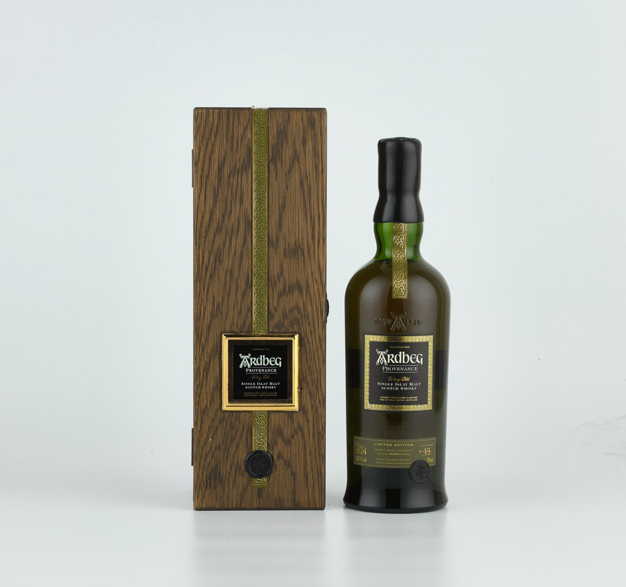 View full screen - View 1 of Lot 66. Ardbeg Provenance Limited Edition 54.7 ABV 1974 (1 BT).