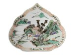 A FAMILLE-VERTE RUYI-SHAPED PLAQUE | QING DYNASTY, KANGXI PERIOD