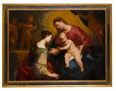 View 2. Thumbnail of Lot 125. The Mystic Marriage of Saint Catherine.