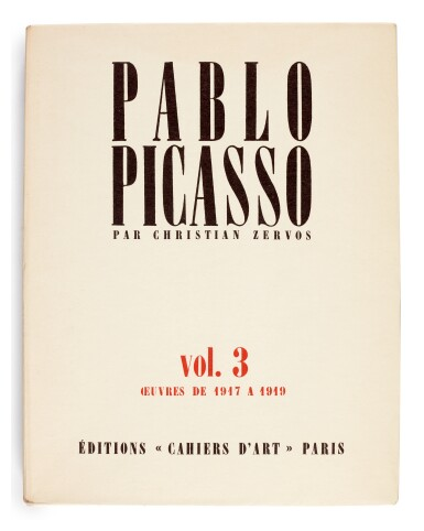 View 1. Thumbnail of Lot 167. Zervos, Pablo Picasso, Oeuvres, Paris, 1949-1986, 34 volumes, original wrappers.