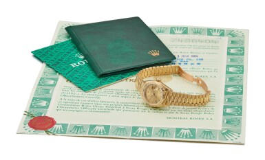 View 5. Thumbnail of Lot 9. ROLEX |  DATEJUST, REFERENCE 69178, A YELLOW GOLD WRISTWATCH WITH DATE AND BRACELET, CIRCA 1983.