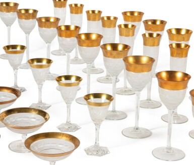 View 2. Thumbnail of Lot 62. A Gilt and Cut-Glass Table Service, 20th Century.