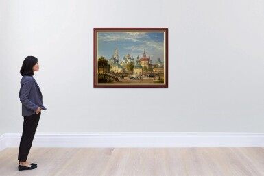 View 4. Thumbnail of Lot 31. JOSEPH ANDREAS WEISS   THE TRINITY LAVRA OF ST SERGIUS AT SERGIEV POSAD.