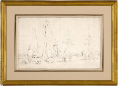 View 2. Thumbnail of Lot 102. English vessels becalmed.