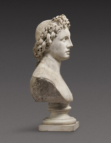 View 3. Thumbnail of Lot 116. Italian, probably 17th century | Bust of Helios Alexander.