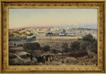 GUSTAV BAUERNFEIND  | JERUSALEM, FROM THE MOUNT OF OLIVES AT SUNRISE