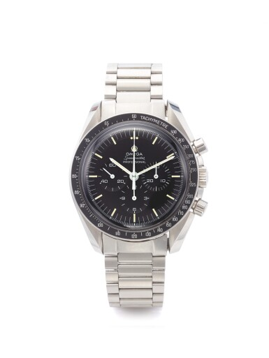 OMEGA | REF 145.022 SPEEDMASTER,  A STAINLESS STEEL CHRONOGRAPH WRISTWATCH WITH REGISTERS AND BRACELET CIRCA 1973
