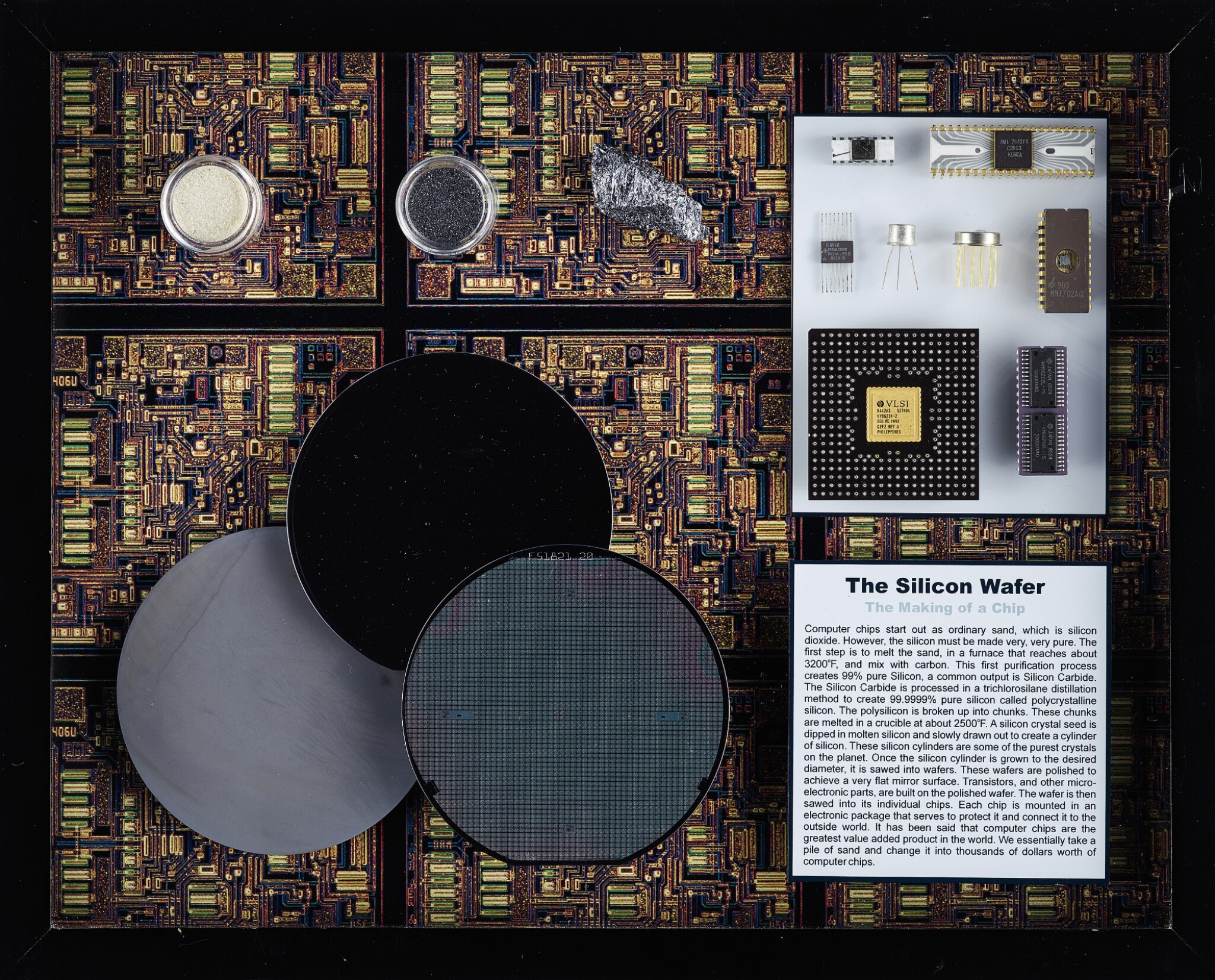 View full screen - View 1 of Lot 43. A COLLECTION OF FRAMED MICROCHIPS.
