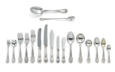 View 2. Thumbnail of Lot 1823. AN AMERICAN SILVER FLORENTINE PATTERN FLATWARE SERVICE, GORHAM MFG. CO., PROVIDENCE, RI, EARLY 20TH CENTURY.
