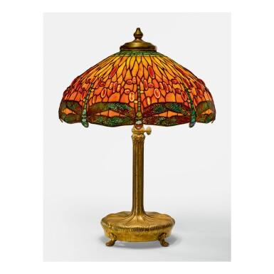 "TIFFANY STUDIOS | ""DRAGONFLY"" TABLE LAMP"