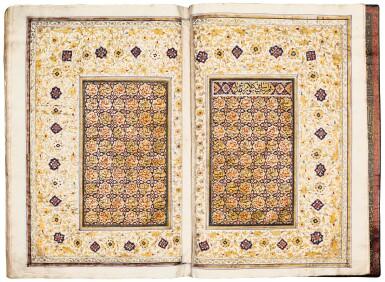 View 4. Thumbnail of Lot 24. Qur'an. copied by Ahmad al-Nayrizi, illuminated. Persia, Safavid and Qajar. 1122 AH/1710 AD.