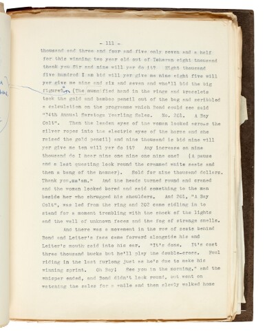 View 3. Thumbnail of Lot 19. FLEMING   Diamonds are Forever, [1955-56], the final revised typescript.