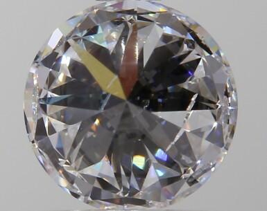 A 1.00 Carat Round Diamond, D Color, SI1 Clarity