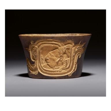 MAYA CARVED VASE, CHOCHOLÁ STYLE LATE CLASSIC, CIRCA AD 550 - 950