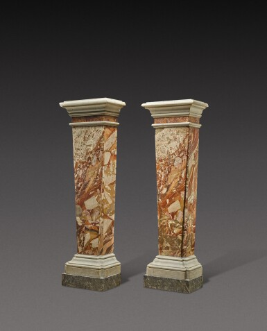 View 2. Thumbnail of Lot 141. Italian, Rome or Naples, 18th century | Pair of Pilaster Columns.