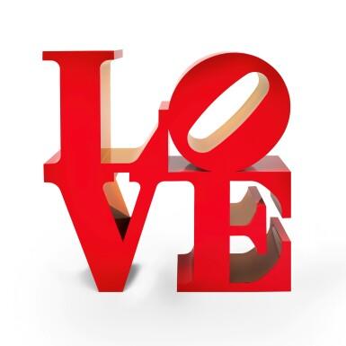 View 1. Thumbnail of Lot 857. ROBERT INDIANA | LOVE.