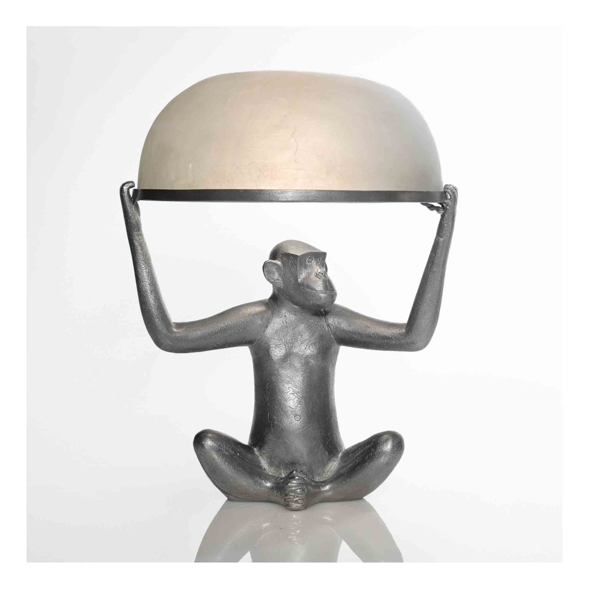 """View 1 of Lot 434. """"Singe Allumé"""" Table Lamp."""