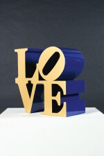 ROBERT INDIANA  |  LOVE (GOLD FACES - BLUE SIDES)