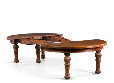 View 4. Thumbnail of Lot 11. AN EARLY VICTORIAN EXPANDING DINING TABLE BY JOHNSTONE & JEANES, MID-19TH CENTURY.