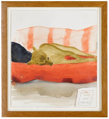 View 2. Thumbnail of Lot 639. DAVID HOCKNEY, R.A. | AUDREY ON THE SOFA.