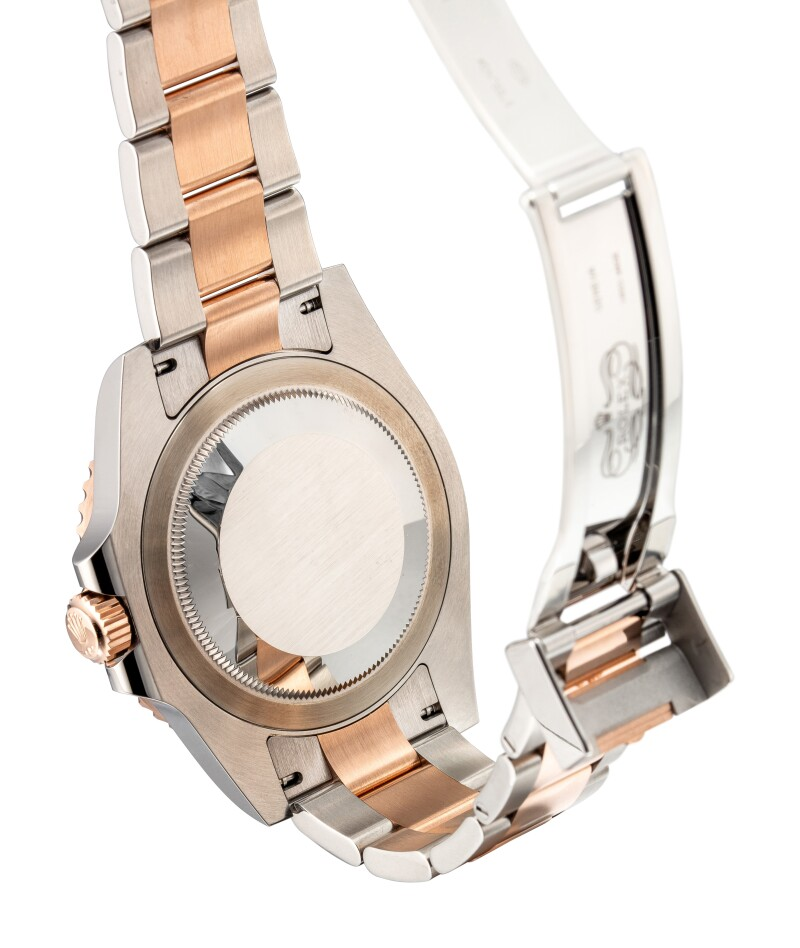 GMT-Master II, Reference 126711 Chnr A Stainless Steel And Pink Gold Dual Time Zone Wristwatch With Date, Ceramic Bezel and Bracelet, Circa 2019